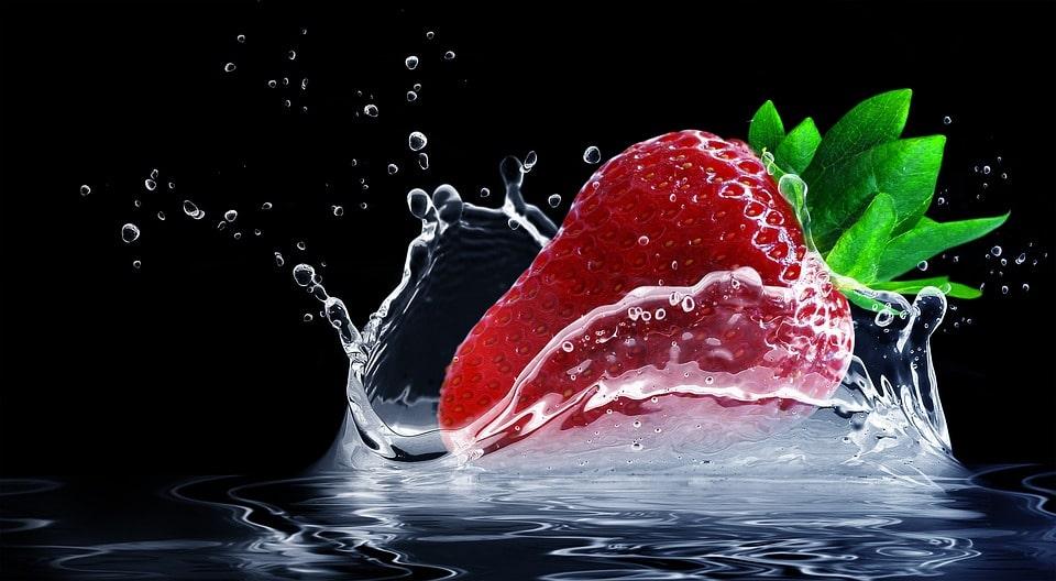 Strawberry, healthy diet.